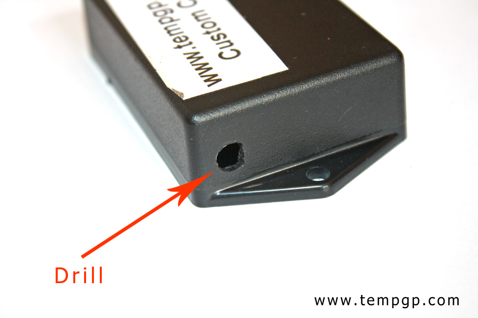 Connector hole drilling for Tire Presure Monitor antenna