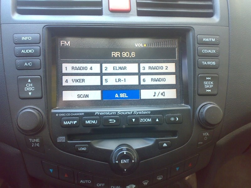 Europe Head Unit for Accord 2007